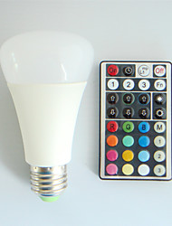 1 pcs SchöneColors E26/E27 9W High Power LED 550LM RGB A60 32Keys Remote-Controlled / Decorative Globe Bulbs AC 100-240V