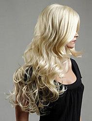 Europe And The United States The New  Ms Platinum Blond Curly Hair Wig