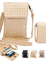 Pour Portefeuille Coque Bolsa Coque Couleur Pleine Flexible Cuir PU pour Universel iPhone 6s Plus/6 Plus iPhone 6s/6