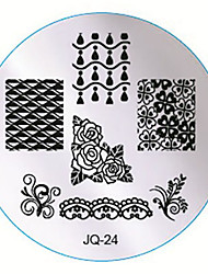 Nail Art Stamping Image Metal Plates Kit Set  A Set Of Ten Plates Random Delivery