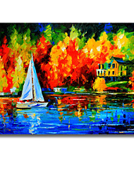 IARTS Brand Small Boat DIY Stretcher New Design Oil Painting Wall Art Free Shiping