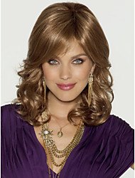 Hot Sale Women Lady Blonde  Color Medium Syntheic Wave  Wig