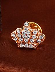 """Fashion Elegant """"Imperial Crown""""Full Rhinestone Alloy M's brooch For Woman&Lady"""