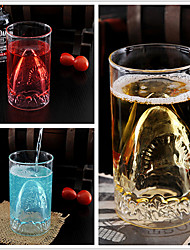 350ml Creative Shark Shape Heat-Resistant Glass Cup Double Walled Glass Wall Borosilicate Whiskey Wine Beer Drinking Cup