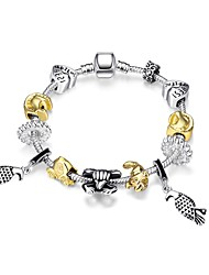 Women's Strand Bracelet Silver Plated Gold Plated Friendship Classic Fashion Golden Jewelry 1pc