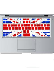 britânico design da bandeira tampa do teclado de silicone pele para MacBook Air 13,3, MacBook Pro com retina 13 15 17 nós de layout