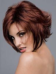 qualité supérieure bugundy de bandes de mode perruques synthétiques parti perruque de cheveux longue ligne droite du milieu de femme