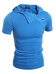 Herren Freizeit Activewear Sets  -  Einfarbig Kurz Baumwolle / Polyester