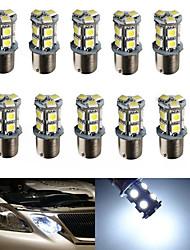 10pcs hry® 1156 13smd 5050 freio cor branca luz lâmpada sinal cauda turno bulbo auto lâmpada LED Car Light (12v)