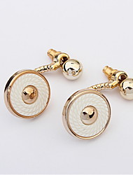 Women Button Drop Earrings Wedding Jewelry