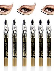 6pcs stylo ombre à paupières miroitement éblouissant& ensemble eyeliner