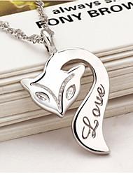 ожерелье кулон женщина лиса пожара краткий пункт ключица серебряные украшения хан издание моды шутник