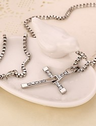 Movie Acc Fast & Furious Cross Pendant Necklace
