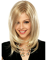 Women Wig Blonde Color Straight Middle Long Synthetic Hair Wigs