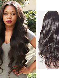 peruca frente não transformados virgens peruca cheia do laço onda corpo peruano perucas de cabelo humano para as mulheres negras 8-26inch