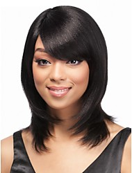 Boutique Light Wavy Human Virgin Remy Hand Tied-Top Capless African American Hair Wigs