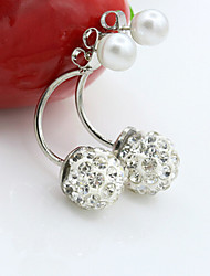 MISSING U Alloy / Imitation Pearl / Zircon Earring Earrings Set Daily / Casual 1 pair