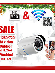 szsinocam® Bullet Outdoor IP Camera 1.0 MP IR-Cut Email Alarm Night Vision Motion Detection Waterproof P2P Wireless