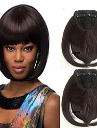 Popular Clip in Synthetic Bang with Full Bang Brown Color