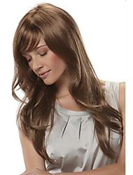 Moda senhora cor loiro encaracolado longas perucas sintéticas