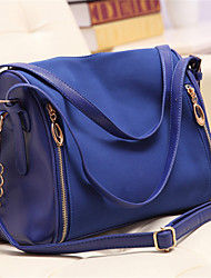 Women PU Baguette Shoulder Bag - Pink / Blue / Black