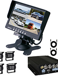 renepai® monitor HD da 7 pollici + auto video registratore video HD auto registratore macchina fotografica di retrovisione impermeabile