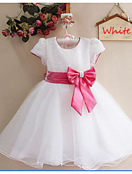 Kid's Dress , Cotton Blend Casual / Cute Beautiful