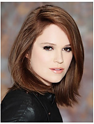 Fashion Lady Middle Brown Color Straight Beautiful Wigs