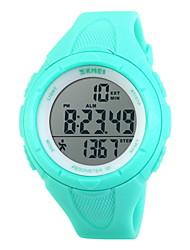 SKMEI Homme Montre de Sport Montre Bracelet Numérique LCD Calendrier Chronographe Etanche penggera Energie solaire Montre de Sport