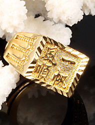 Lucky Smooth Men 24 K Gold Ring