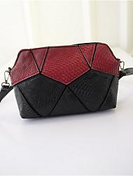 Women PU Sling Bag Shoulder Bag - White / Blue / Red