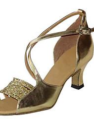 Zapatos de baile ( Negro / Marrón / Rojo / Blanco / Plata / Oro ) - Latino / Salsa / Samba / Zapatos de Swing - No Personalizables -Tacón