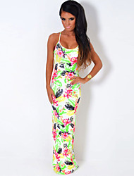 Women's  Tropical Print Maxi Dress