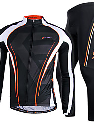 NUCKILY® Cycling Jersey with Tights Men's Long Sleeve BikeBreathable / Quick Dry / Windproof / Anatomic Design / Wearable / Lightweight