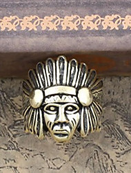 European Style Retro Punk Indian Head Chief Of A Tribe Ring