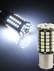 2 x 1156 BA15S 80 LED 3528 SMD White Car Tail Parking Stop Light Bulb Lamp