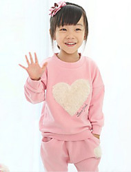 Girl's Cotton Love Fashion Printing Haroun Pants Two-Piece Outfit