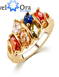 Ring Fashion Party Jewelry Alloy / Cubic Zirconia Women Band Rings 1pc,One Size Rose Gold