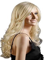 superior em qualidade anf razoável no preço loira peruca longa onda syntheic