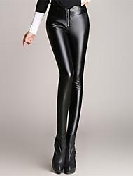 Women PU Pants , Fleece Lining