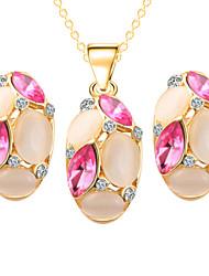 Bijoux Colliers décoratifs / Boucles d'oreille Anniversaire / Fiançailles / Mariage / Soirée / Quotidien / Décontracté Strass 1set Femme