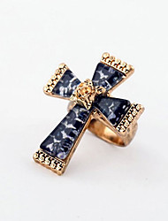 Vintage  Style Cross Rose Gold Plating Ring