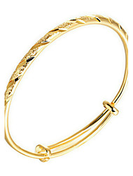Gold Plated Bracelet Bangles Wedding / Party / Daily / Casual / Sports 1pc