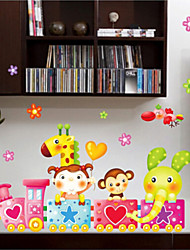 Train Children's Room Cartoon Girl Nursery Decor  Stickers Wall