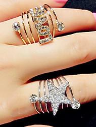 Korean Style LOVE Star Shape Adjustable Ring Set Midi Rings(1pcs Random)