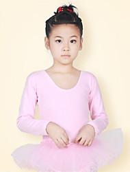 Vestidos(Azul claro / Rosa,Algodón,Ballet / Desempeño) -Ballet / Desempeño- paraNiños Lazo(s) / Volantes Representación