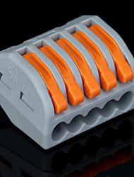 50pcs PCT-215 400V / 4 kV / 32a Universal-Anschluss 0.08-2.5mm² single / 0.08-4.0mm² Mehrdraht Abisolierlänge 9-10mm