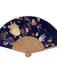 Silk Fans and parasols - 1 Piece/Set Hand Fans Asian Theme / Fairytale Theme Blue