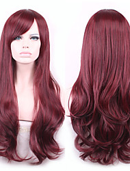 Long Wave Synthetic Hair Red Cosplay Wig