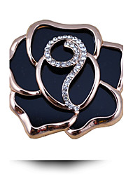 Korean Fashion Exquisite Acrylic Rose Rhinestone Brooch